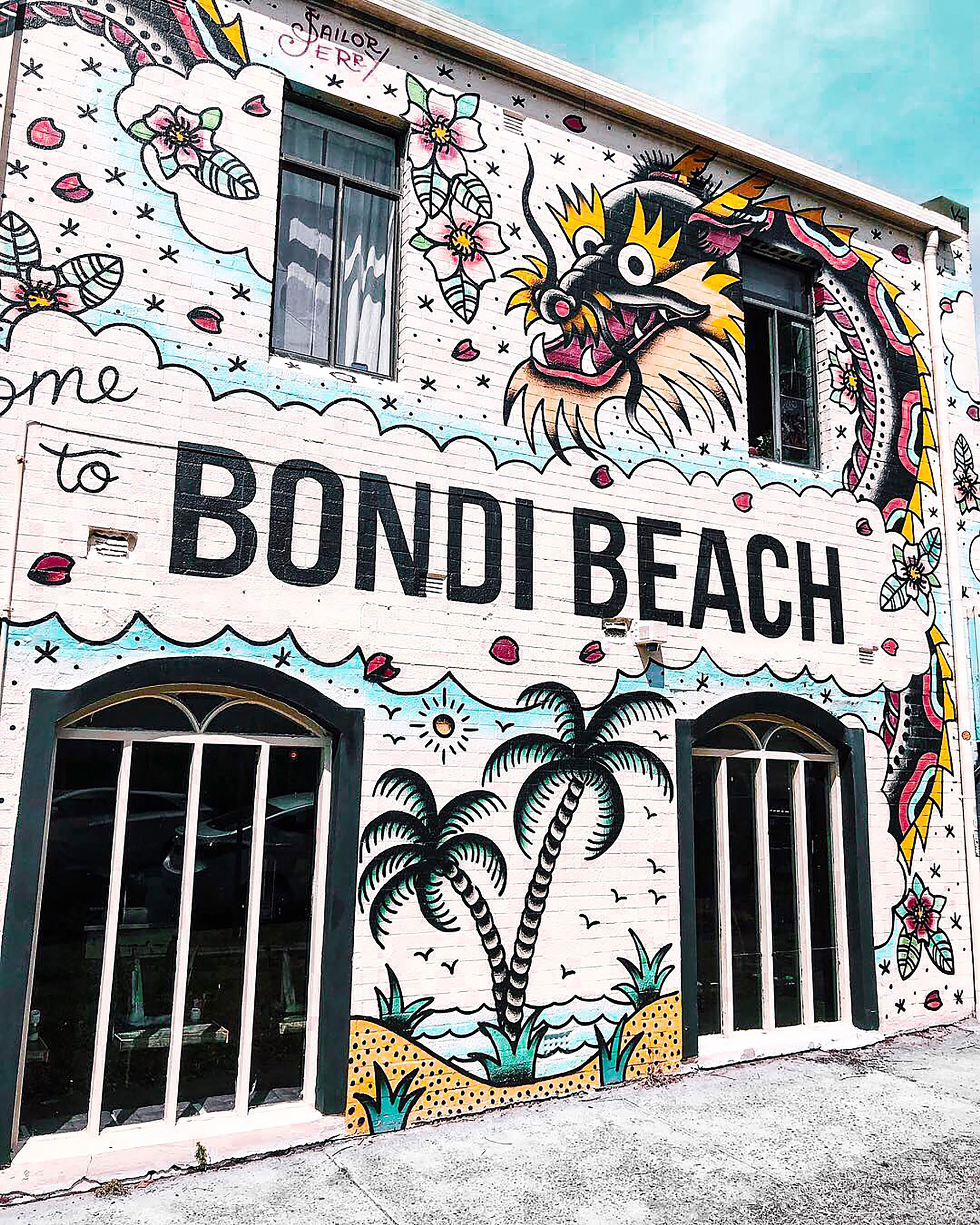 Bondi Beach graffiti.
